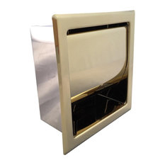 Recessed Toilet Paper Tissue Holder Gold Stainless Steel