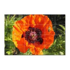 Flower Photo Ceramic Tile Mural Kitchen Backsplash Bathroom Shower, 404826-XL64