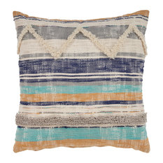 Multi Geometric Chevron Throw Pillow