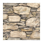 Hadrian Stone Wall Peel and Stick Wallpaper, Bolt
