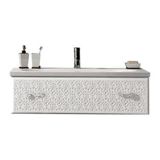 "Venice 32"" White Luxury Bathroom Vanity With White Porcelain Integrated Sink."