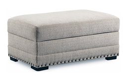 Simmons Upholstery Thaxton Ivory Storage Ottoman