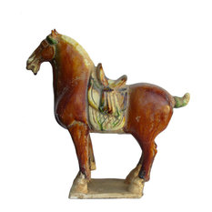 Chinese Pottery Clay Ancient Style Horse Figure