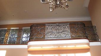 Wrought Iron Balcony Handrail