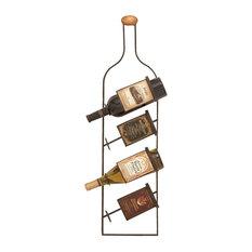 Metal Wall Wine Rack, 31  x9