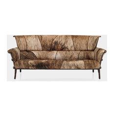 90 W Roamer sofa Brazilian American brindle premium hides Rustic modern