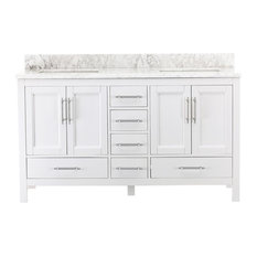 Kendall White Bathroom Vanity, 60""