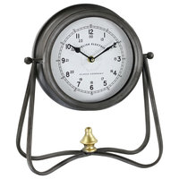 Aspire Home Accents 5810 Cline 13-1/4 Inch x 11-1/2 Inch Metal Analog Clock