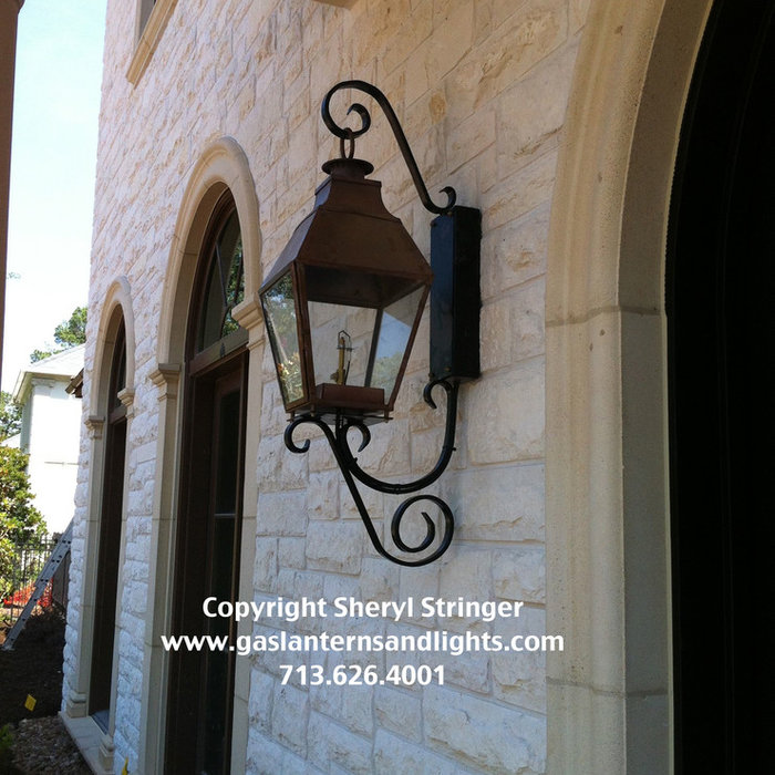 Sheryl's French Regent Gas Lanterns, Gas Lamps