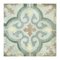 SomerTile D'Anticatto Decor Porcelain Floor and Wall Tile, Case of 20, Palazzo