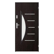 Centaurus Glass Exterior Front Door, Wenge, 110 cm