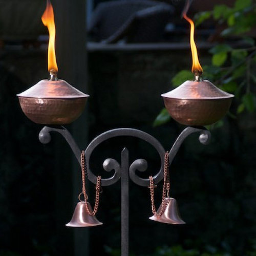 Patio Torch Lights Tiki Torches Pits And Patio Heaters