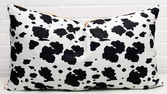 Reversible Cow Print Decor Pillow