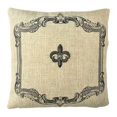 Silver Fleur di Lis French Tan Pillow Pin Set