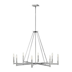 Hinkley Buchanan Chandelier 4988PN, Polished Nickel