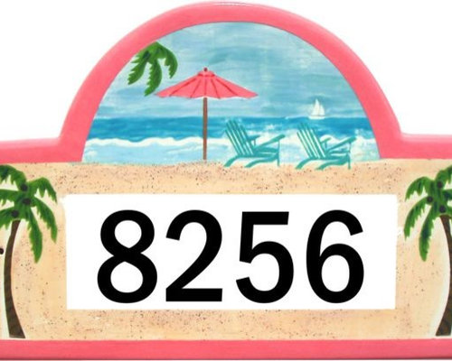 tropical house address plaques and house number signs