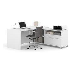 Bestar Pro-Linea L-Desk, White