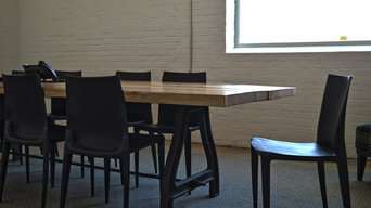 Conference Table from Two Slabs
