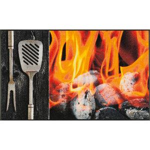 Smokey Flames Door Mat, 120x75 cm
