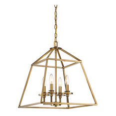 Braxton 4-Light Pendant, Warm Brass
