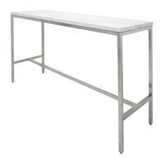 """CHELSEA BAR TABLE WHITE 72"""""""