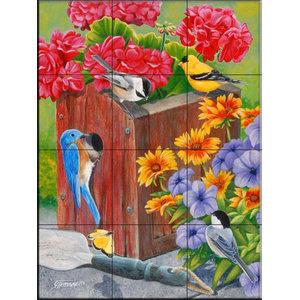 Tile Mural, No Vacancy - FS, 32.4x43.2 cm