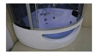 Corner Jacuzzi Bath With Shower