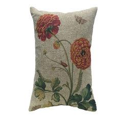 Decorative Floral Linen Pillow