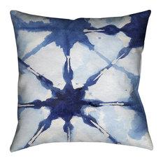 "Laural Home Shibori II Outdoor Decorative Pillow, 20""x20"""
