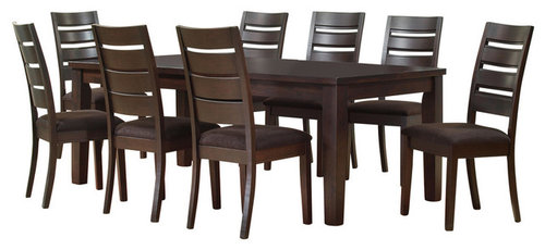 Martinique 9 Piece Dining Set Espresso More Info