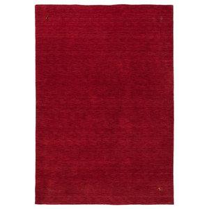 Gabbeh Wool Rug, Red, 160x230 cm