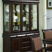 Crown Mark - Merlot Casual and Elegant Brown Finish China Cabinet - 592145-BH