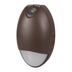 EOT Bronze Outdoor LED Teardrop Emergency Wall Pack with Photocell, 2700K