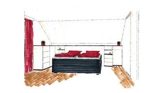 Schlafzimmer - Vorher-Nachher