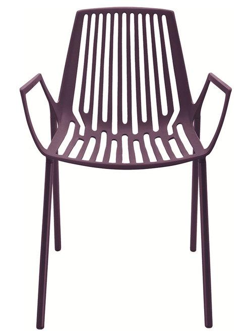 Rion Karmstol Stapelbar, Plommon Lila - Udendørs spisebordsstole