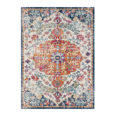 "Harput Traditional Saffron, Light Gray Area Rug, 5'3""x7'3"""