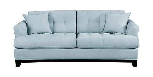 Sofa Bed Sleeper In A Light Blue Color