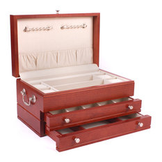 First Lady Jewel Chest, Solid American Cherry Hardwood , Heritage Cherry