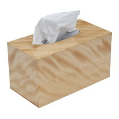 Tissue Box Cover in Figured Birch Wood, Family Rectangular Size