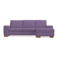 Apt2B - Melrose Reversible Chaise Sleeper Sofa, Innerspring Mattress, Lavender Velvet - Sleeper Sofas