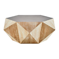 Hexagon Coffee Tables Houzz - Hexagon cocktail table