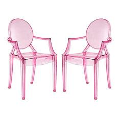 Casper Dining Armchairs, Set of 2, Pink