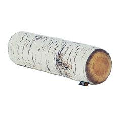 Log Bolster Cushion, Nordic Birch
