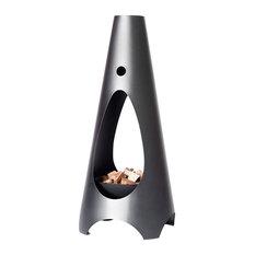 Bonfire Propane Fireplace, Charcoal