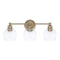 Capital Lighting Mid-Century 121131AD-426 3 Light Vanity - Aged Brass