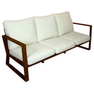 Outdoor 3-Seat Bolonia Sofa, Bronze