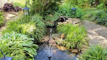 Ponds and privacy shrubs
