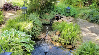 Ponds and privacy shrubs
