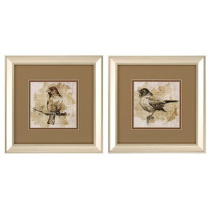 Bird Sketch Print, Set of 2