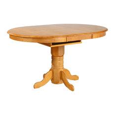 Sunset Trading 5 Piece Leaf Pub Table Set, Swivel Barstools